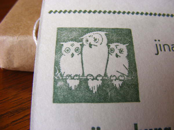 Owl cut on business cards