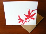 Red Leaf Card