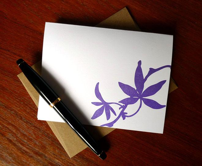 Purple Leaf Card
