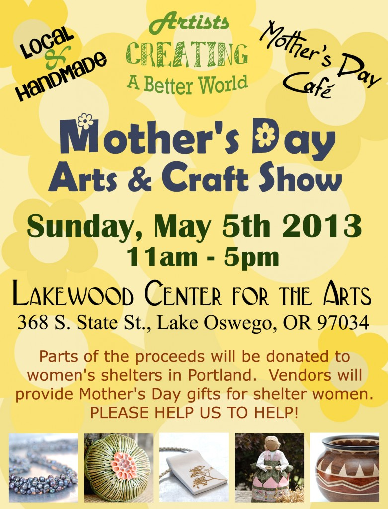 Artists Creating a Better World Mother's Day Show Poster