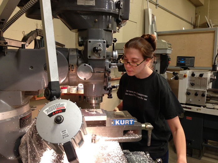 Learning to use a milling machine